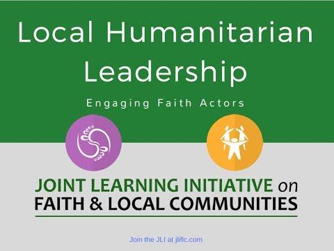 JLI Joint Learning Opportunity Webinar on Local Humanitarian Leadership