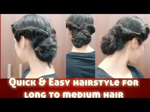 Quick Hairstyle For Navratri Hairstyle For Medium To Long Hair