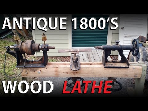 Antique 1800's Wood Lathe - Assembly