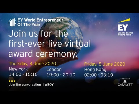 EY World Entrepreneur Of The Year winner announcement 2020