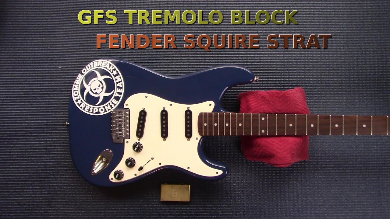 Guitar Fetish Tremelo Block Installation