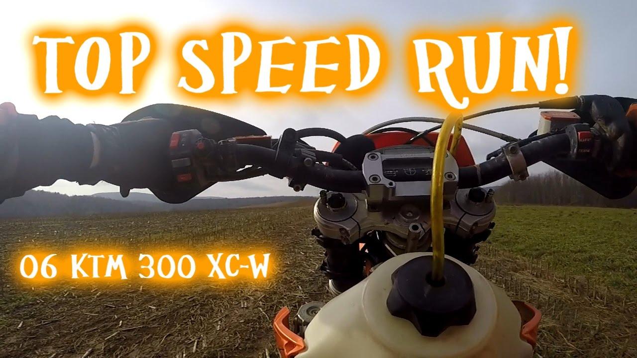 06 ktm 300 xc-w top speed 5th gear wheelie - youtube