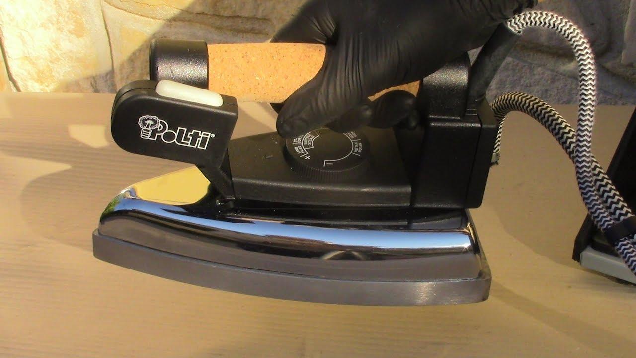 Pulizia Ferro Da Stiro come pulire il ferro da stiro ostruito dal calcare-cleaning a clogged steam  iron