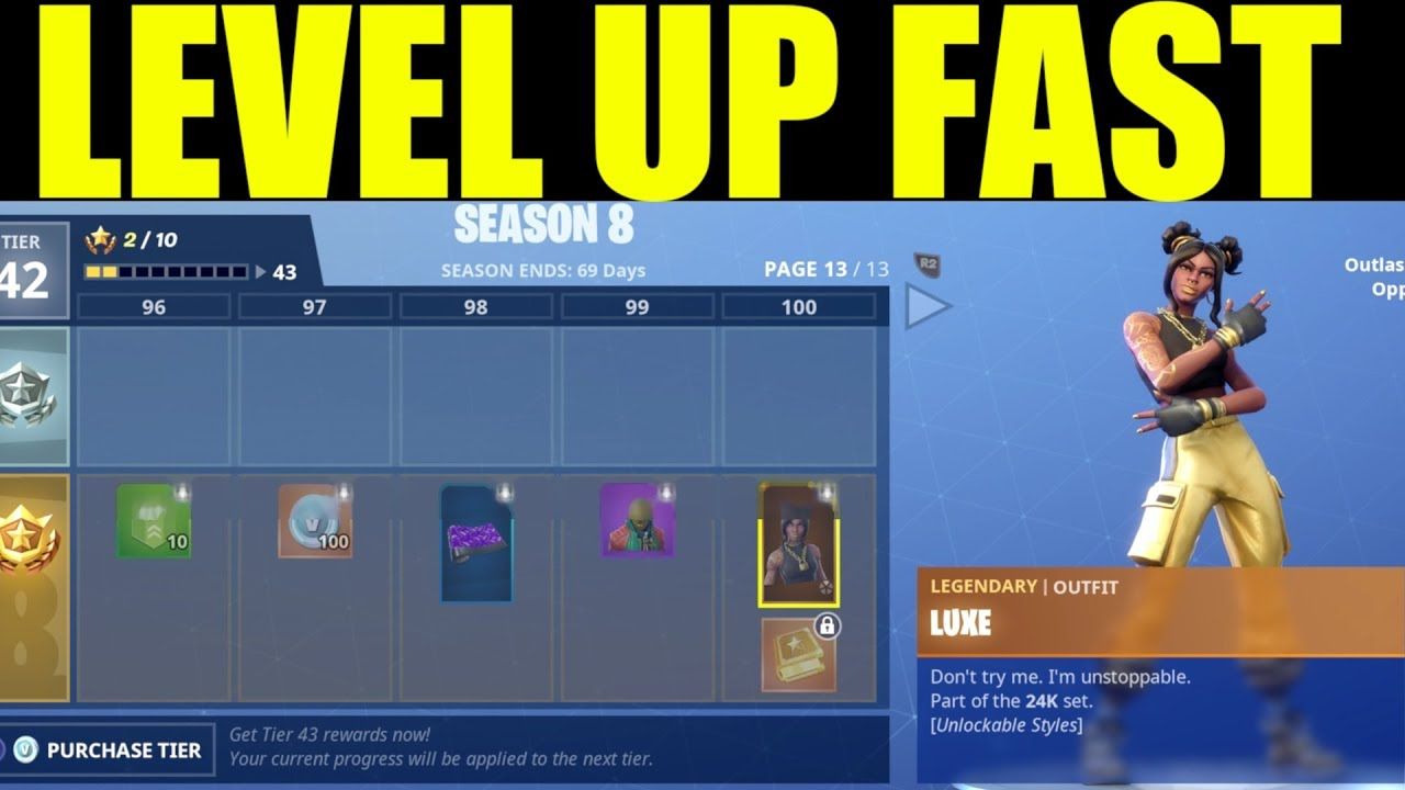Fortnite Season 8 Level 100 Xp Chart Tier Guide Fortnitebr