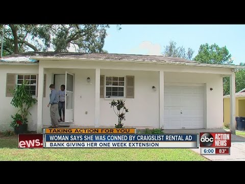 Woman says she was conned by Craigslist rental ad