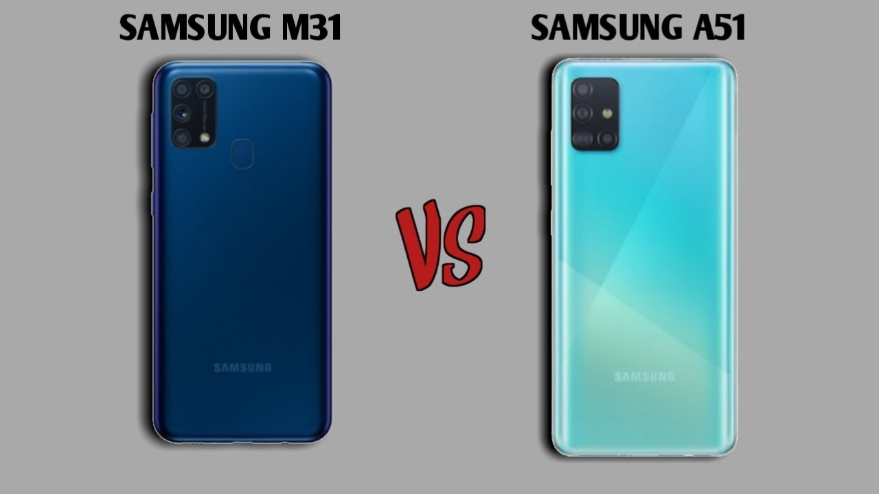 Samsung M31 Vs Samsung A51 Speed Test Camera Comparison Youtube