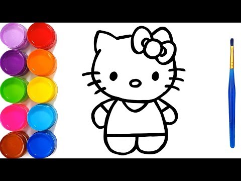 Hello Kitty, Dump Truck Drawing Coloring Pages Kids Learn Colors ...