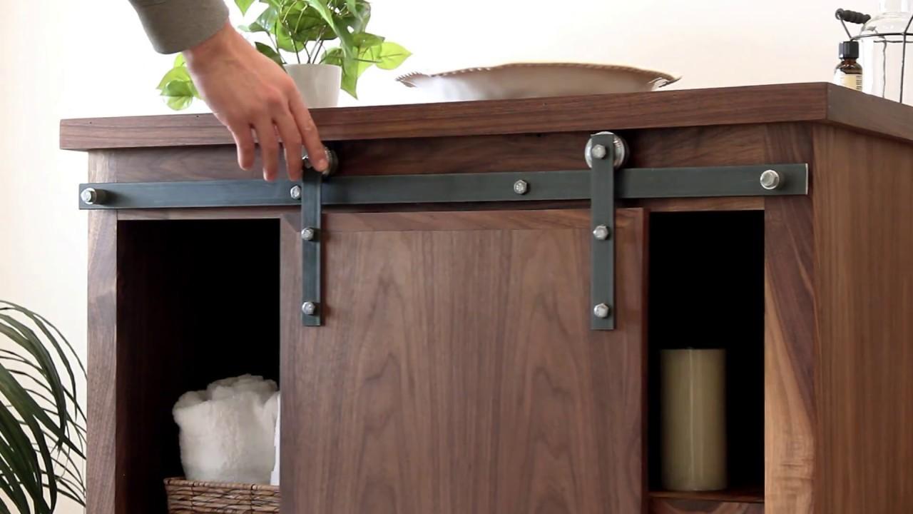 Simple Barn Door Hardware For Cabinets Interior