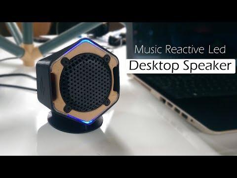 Make a Desktop Speaker with music reactive leds | 3d printing project