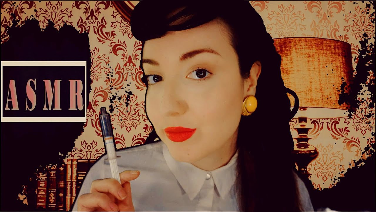 ASMR   1950's LSD Experiment (Research Project Roleplay) Writing & Drawing Sounds