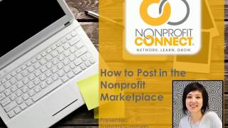 How to Post in the Nonprofit Marketplace