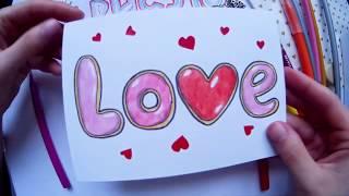 как сделать открытку про любовь