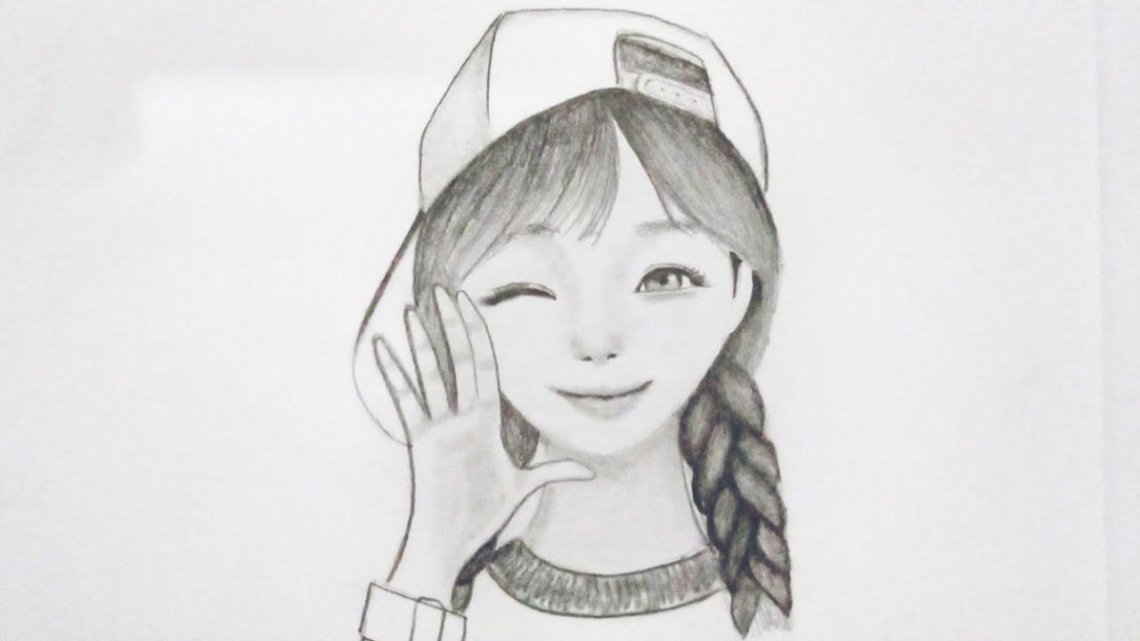 Belajar Menggambar Kartun Korea Cantik Untuk Pemula Youtube