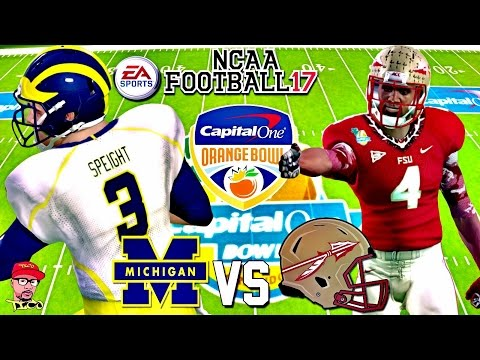 2016 ORANGE BOWL!!! | FLORIDA STATE Vs. MICHIGAN BCS BOWL GAMEPLAY!!! NCAA FOOTBALL 17