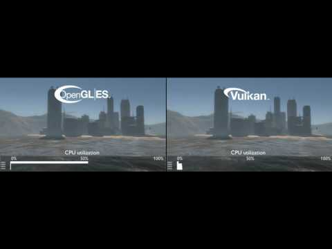 First comparison of Vulkan API vs OpenGL ES API on ARM