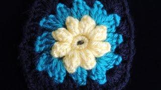 Crochet : Motivo # 2.  Manta de Flores