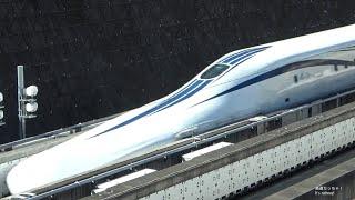 爆音注意! リニア中央新幹線 L0系改良型 超高速通過40発! リニア見学センターで! Super High-Speed Pass of the  SCMaglev Shinkansen