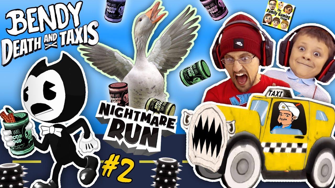 Bendy The Ink Machine Monster Taxi Nightmare Run Episode 2 Fgteev Akinator Impression