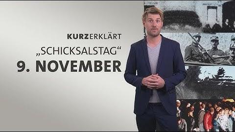 """#kurzerklärt: """"Schicksalstag"""" 9. November"""