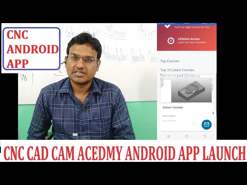 CNC CAD CAM ACADEMY ANDROID APP LAUNCH UPDATE