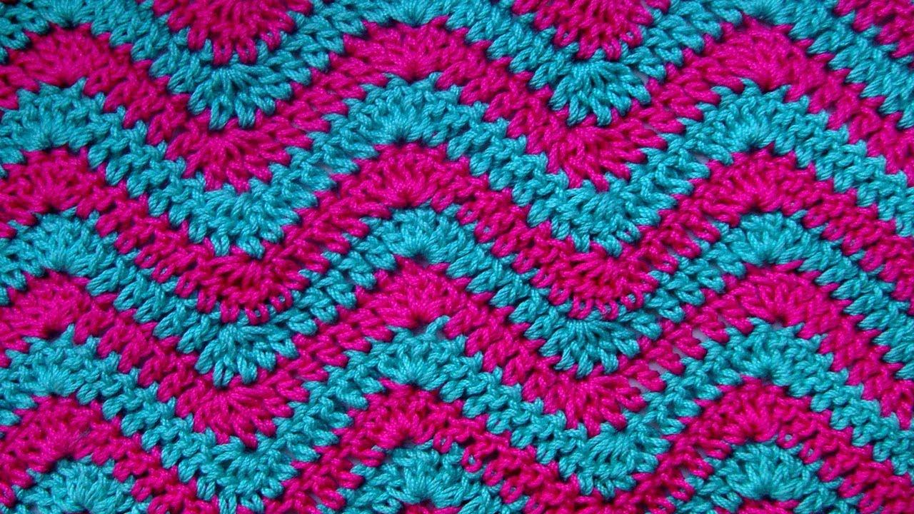 Узоры для вязания крючком разноцветные 40