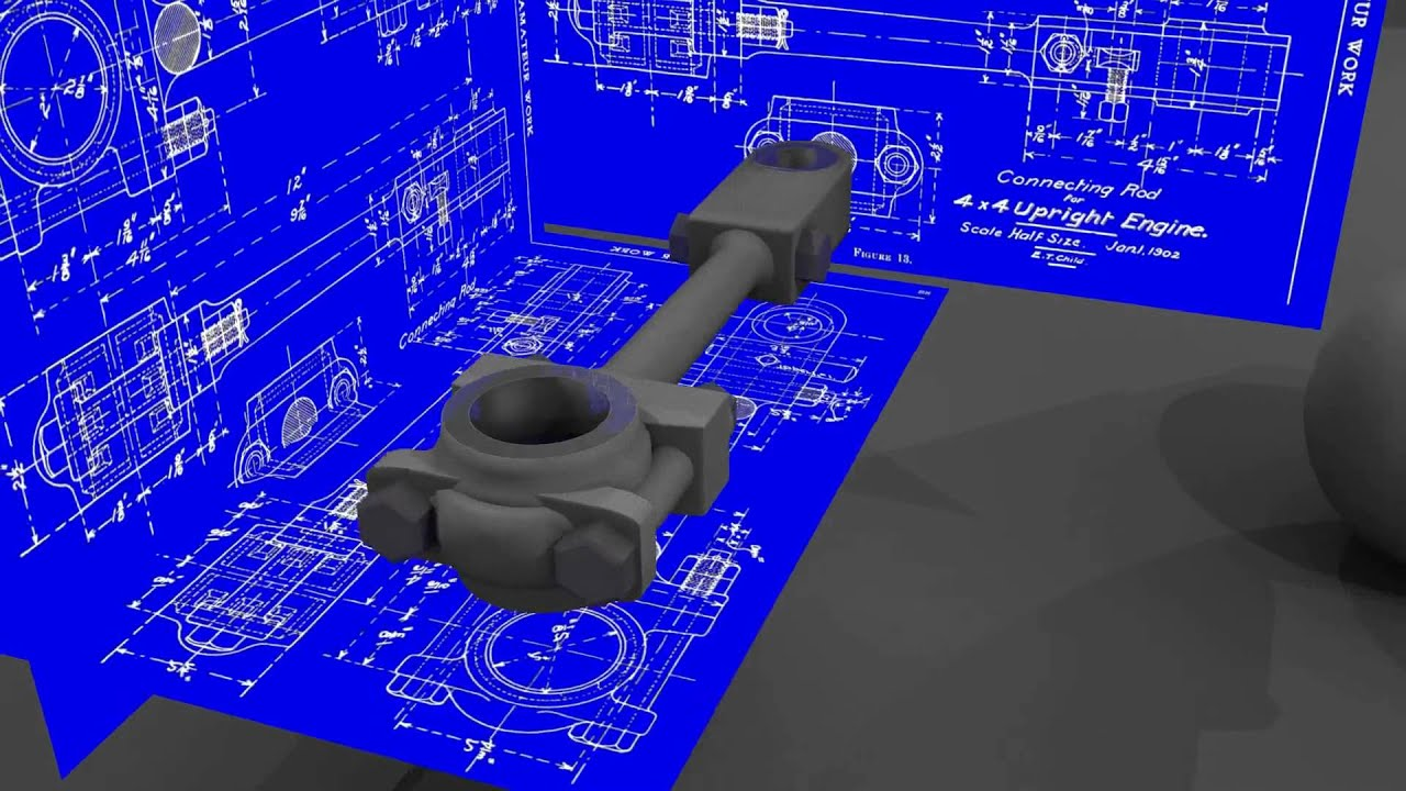 Cad Drafting With Blender Simple Piston Rod Youtube