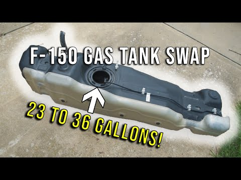 F-150 Gas Tank Swap! 23 to 36 Gallon Tank Swap!