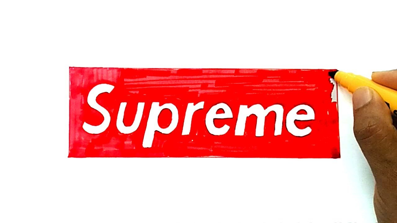 How To Draw The Supreme Logo - YouTube