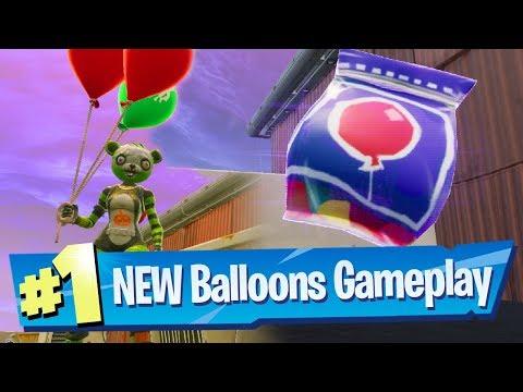 NEW Balloon Gameplay - Fortnite Battle Royale
