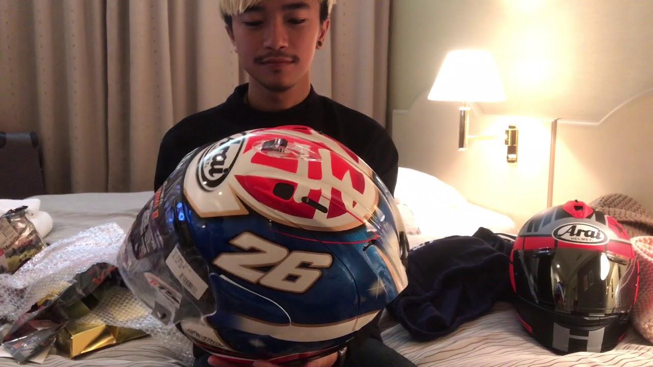 วันที่ 2 ที่ญี่ปุ่น โดนหมวก Arai มา 2 ใบ!!!