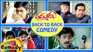 Back to Back Best Comedy Scenes | Thammudu Telugu Movie | Pawan Kalyan | Brahmanandam | Ali