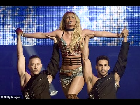 Britney Spears displays her eye popping cleavage during a dynamic performance thumbnail