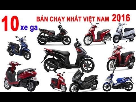 Top 10 xe ga bán chạy nhất Việt Nam năm 2016