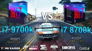 Intel Core i7 9700k vs i7 8700k Test in 8 Games
