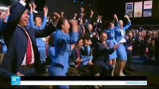لحظة إعلان استضافة بكين الألعاب الأولمبية الشتوية 2022
