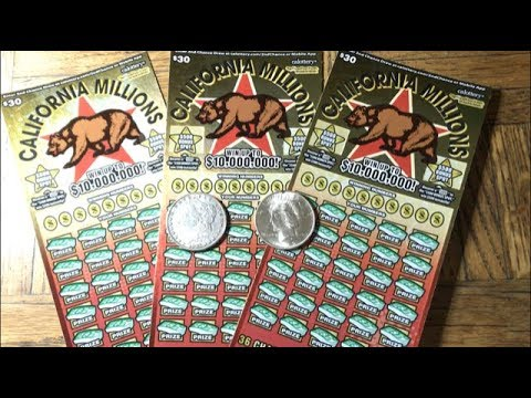 $90 in the NEWEST California Scratchers! CALIFORNIA MILLIONS