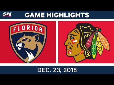 NHL Highlights | Panthers vs. Blackhawks - Dec 23, 2018