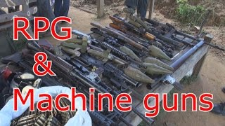 Shooting a toyota with RPGs & machine guns