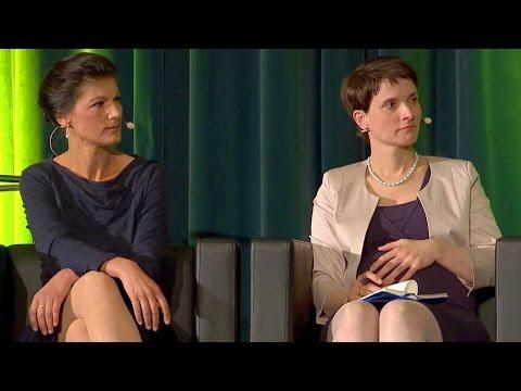 """Podiumsdiskussion zu """"Nervöse Republik"""" u.a. mit Frauke Petry und Sahra Wagenknecht"""