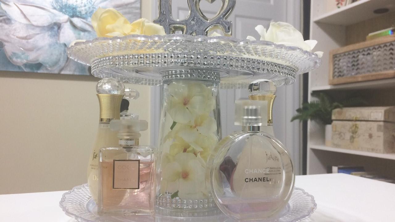 Glam Perfume Organization Diy Dollar Tree Youtube