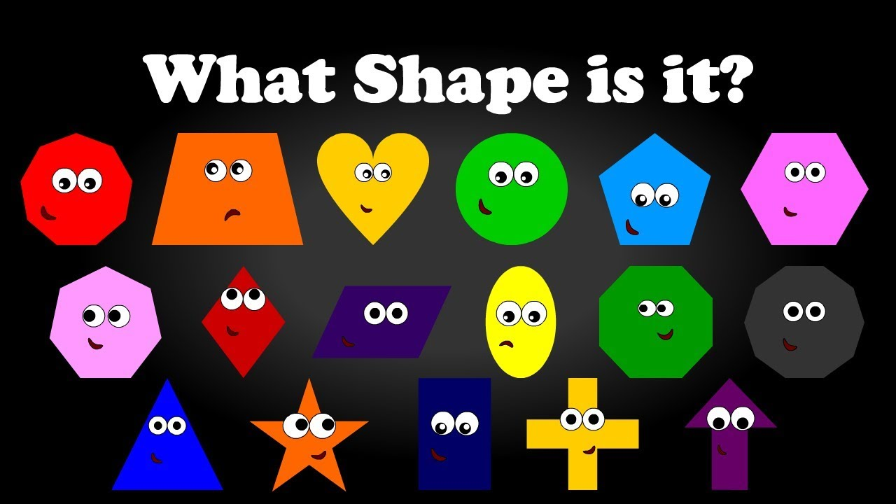 What Shape is it??? 2D Geometric Shapes Learning for Toddlers Kids  Preschoolers