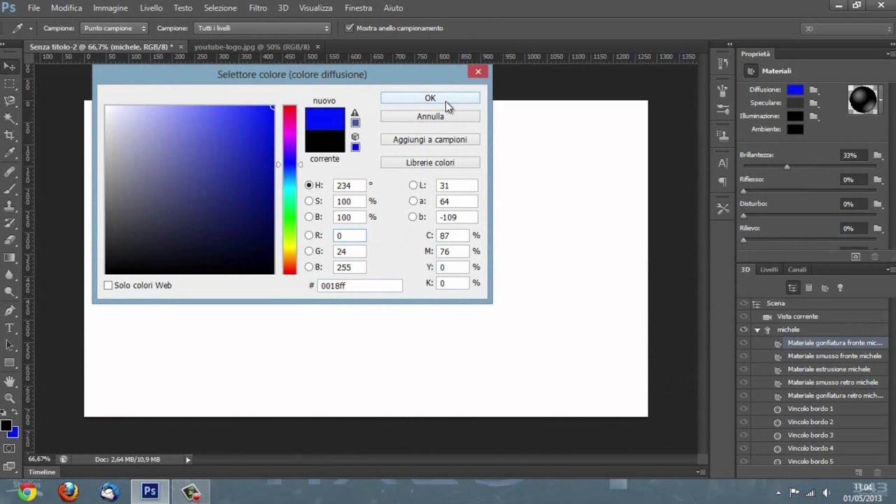 Il 3d su photoshop basi adobe photoshop cs6 tutorial youtube il 3d su photoshop basi adobe photoshop cs6 tutorial baditri Images