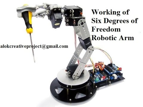 Working Of Six Degrees Of Freedom Robotic Arm Using Arduino