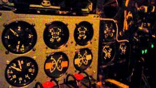 Ил-14 - гонка левого мотора 15.04.2012 1-я + флюгирование