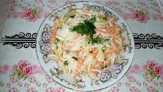 Салат из редьки с капустой и морковью Вкусный и полезный овощной салат