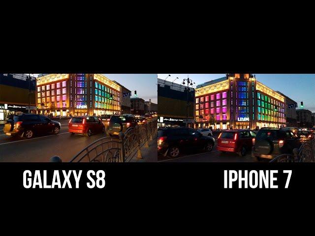 Чем Galaxy S8 лучше iPhone 7? (Тест камер 4K)