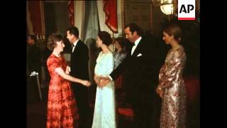EDWARD HEATH ATTENDS BANQUET GIVEN BY KING BAUDOUIN OF BELGIUM: SYND 23-1-72