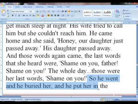 Shame On You Father True Story In English With Urdu Translation byTariq Aziz
