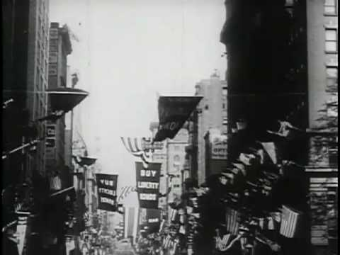 President Wilson Arrives in New York to Lead Fourth Liberty Loan Parade [1918]