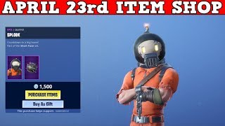 Fortnite Item Shop (April 23rd) | *NEW* SPLODE SKIN + SHRAPNEL PICKAXE!